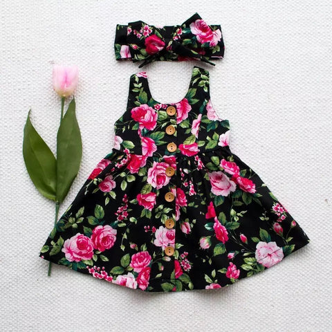 Summer Blossom Dress and Headband Set