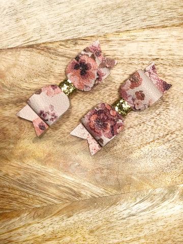 Vintage Floral Itty Bitty Clips
