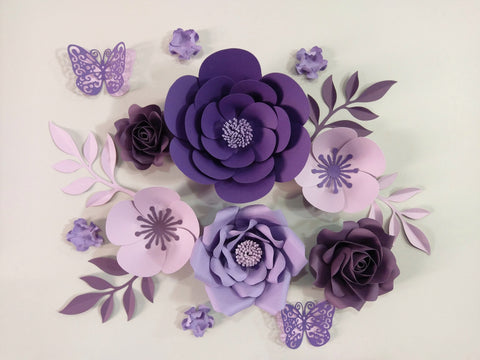 Perfectly Purple Flower Set