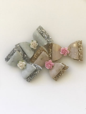 Luxe Glitter Piggy Clips - 2 colours to choose from