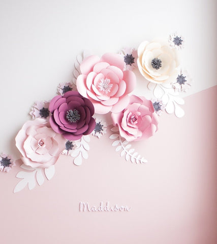 Perfectly Pink Wall Flowers