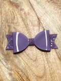 Patent Glitter Bow - 3 Colours