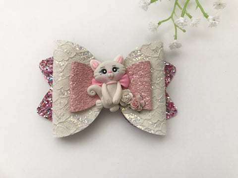Marie Cat Clay Bow