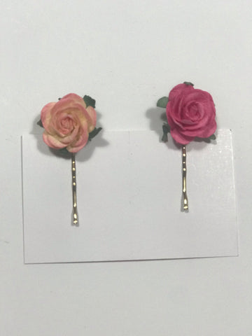 Floral Hair Pin Slides
