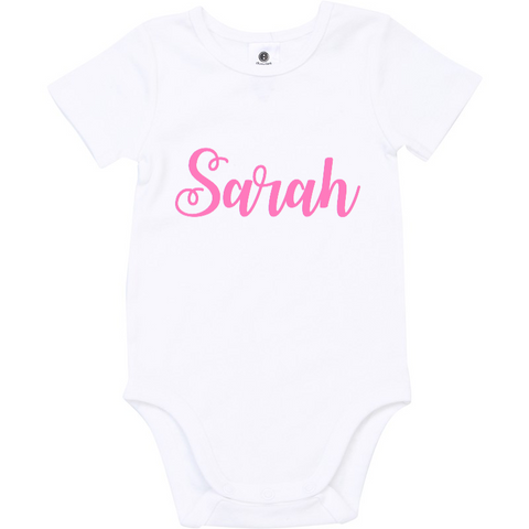 Personalised Baby Name Onesies