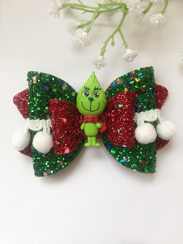 The Grinch Clay Bow