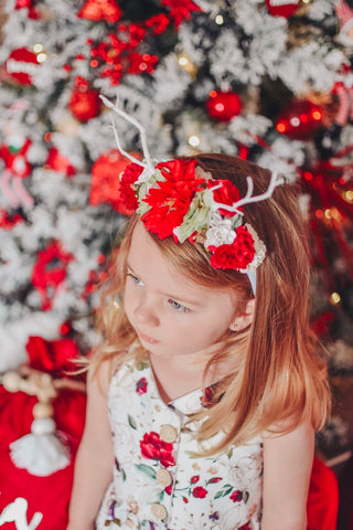 Antlers Luxe Christmas Flower Crown