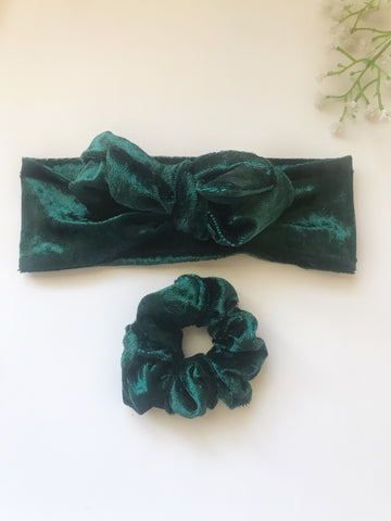 Emerald Headwrap & Scrunchie