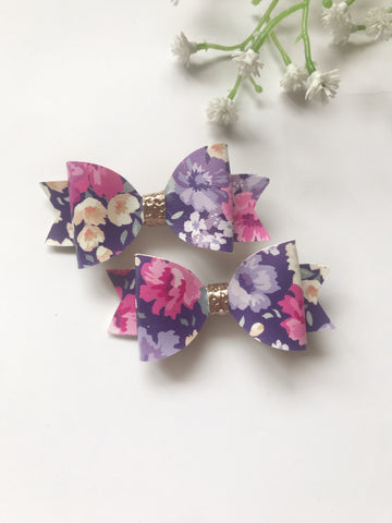 Floral Piggy Clips - 2 Colours