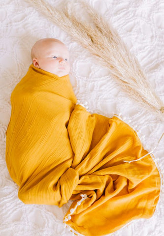 Mustard Heirloom Blanket