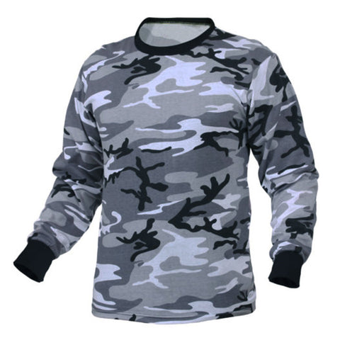 Men Long Sleeve T Shirts Camouflage