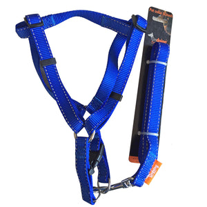 Dog Harness Leash Set Adjustable No Pull 3 Sizes Heavy Duty Walking Training Pet