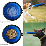 Portable Pet Collapsible Bottle Drinking Cup Set Food Water Feeder Travel Dog
