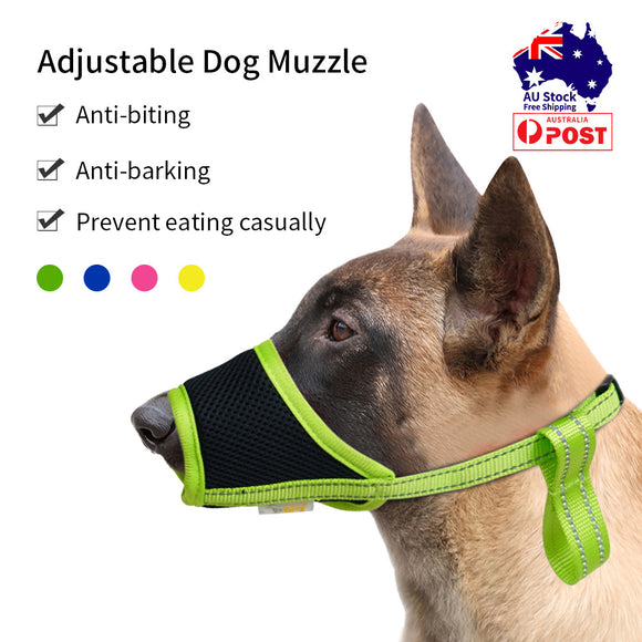 Dog Muzzles Pet Mouth Cover Guard Breathable Muzzle Barking Bite Chew Adjustable