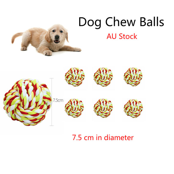 Dog Chew Toys Rope Ball Toy Indestructible Cotton Puppy Teeth Cleaning Tough