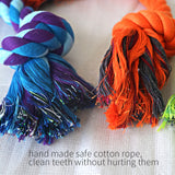 Dog Puppy Rope Toys Pet Chew Toys Gift Durable Cotton Knots Dog Teeth Clean