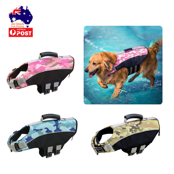 Dog Life Jacket Lifesaver Pet Safety Vest Swimming Boating Float Aid Buoyancy XL