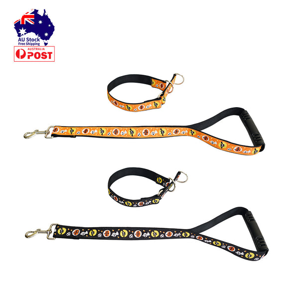Halloween Dog Collar Lead Set Pet Collars Short Leash Traffic Leads with Handle