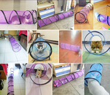 Cat Tunnel Detachable Kitten Tube Collapsible Interactive Pet Toy Play Foldable