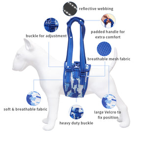 Dog Lift Support Harness Help Em Up Harness Pet Injury Aid Assist Adjustable Car