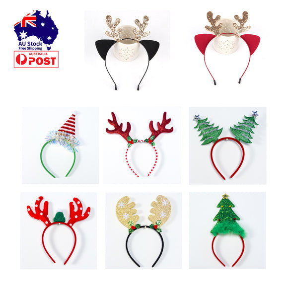 Christmas Headband Headwear Hair Hoop Adult Dog Cat Costume Cute Outfits Xmas