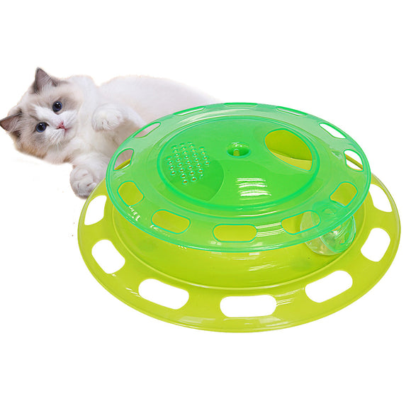 Interactive cat toy turntable cat feeder