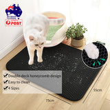 Double Layer Cat Litter Mat Trapper Tray Pet Pad Waterproof S M L XL Multicolor