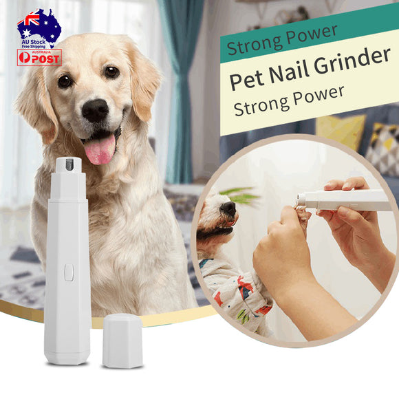 3 Modes Pet Nail Grinder Dog Cat Grooming Trimmer Electric Claw Toe Clipper
