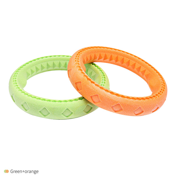 Dog Toy Chew Toy Interactive Toy Flying Ring Frisbee Teething Toy (Set of 2)