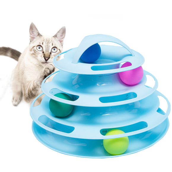 Interactive cat toy—PP materiel tower of tracks