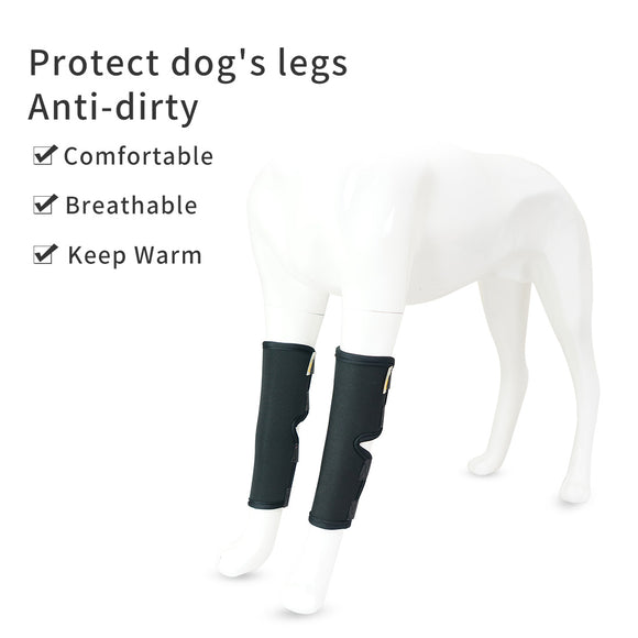 Dog Leg Brace Knee Support Hock Protector Rear Leg Compression Wrap Injuries Pet