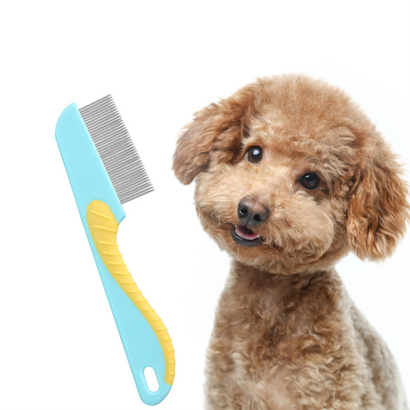 Pet Flea Comb with Handle Dog Cat Grooming Combs Float Hair Remover Shedding