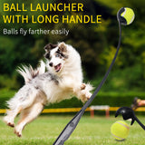 Dog Tennis Ball Thrower Launcher Pet Interactive Toy Easy Grabber Handle Outdoor 1 Pc Random Color