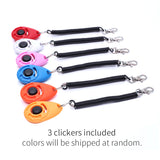 3Pcs Pet Dog Training Clickers with Wrist Strap Puppy Cats Birds Horses Keychain