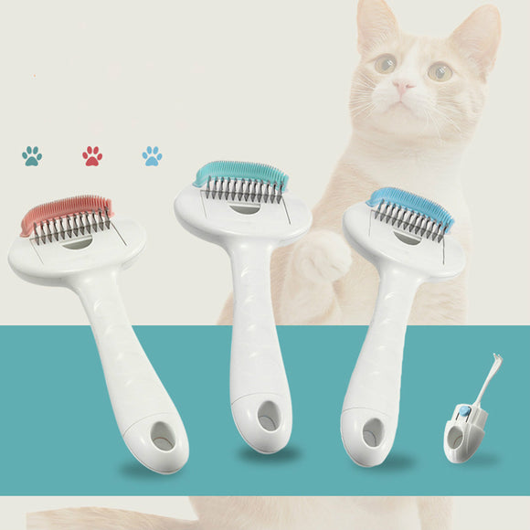 3 In 1 Pet Grooming Comb Multi-function Combs Flea Knot Remover Massaging Kit
