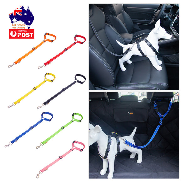 Adjustable Pet Dog Safety Car Seat Belt Collar Lead Pet Vehicle Seatbelt Travel