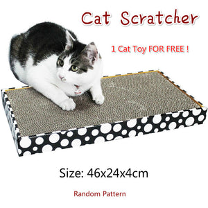 Kitten Cat Scratching Scratcher Toys Corrugated Cardboard Sofa Shape 46x24x4cm