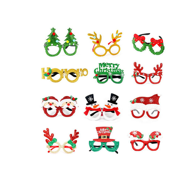 Christmas Eyeglasses Frames Xmas Glasses Party Costume Photo Props Tree Elk Deer