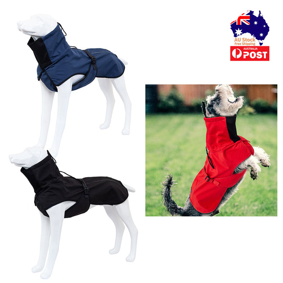 Pet Dog Raincoat Poncho Jacket Windbreaker Waterproof Clothes with Harness Hole