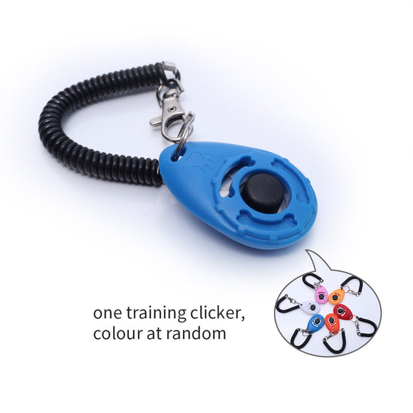 Pet Dog Training Clicker with Wrist Bands Strap