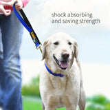 Short Dog Leash Padded Handle Nylon Training Leash Reflective Stripes