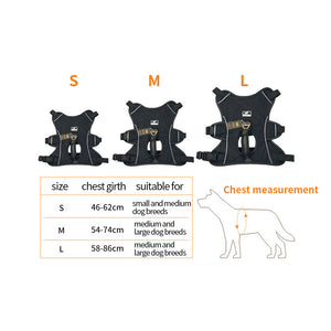 Dog Harness Strong Nylon Pet Vest Adjustable Non-Pull Outdoor Training Walking