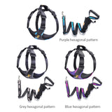 No Pull Dog Harness Lead Set Football Pattern Adjustable Reflective Pet Vest