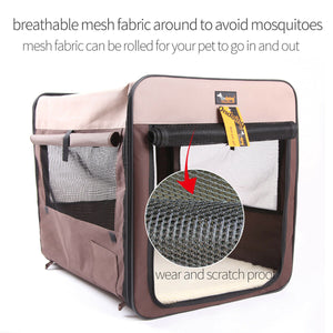 Pet Carrier Bag Soft Dog Crate Cage Kennel Tent House Foldable Portable Car Bed