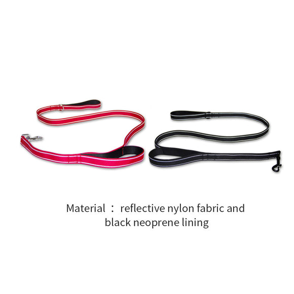 150cm Reflective Dog Leash Lead with Dual Handle Puppy Outdoor Pet Heavy Duty