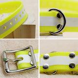 Reflective waterproof pet TPU collar