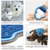 1 Pair Pet Dog Cat Hair Grooming Cleaning Magic Gloves For Dirt Remover Brush