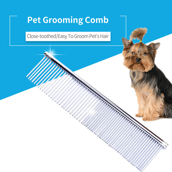 Pet Grooming Comb Stainless Steel Combs Dual Wide And Narrow Teeth Massaging Kit