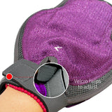 Pet Grooming Glove Gentle Brush Hair Remover Mitt with Rubber