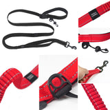Dog Leash Lead Durable Nylon Hands Free Shock Absorbing Bungee Leash For Running